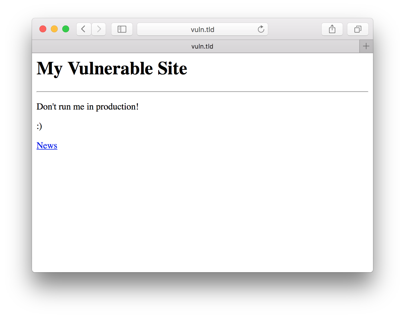 vulnerable site